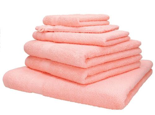 Betz 6 pièces serviette-Set Palerme 100/% coton différentes couleurs