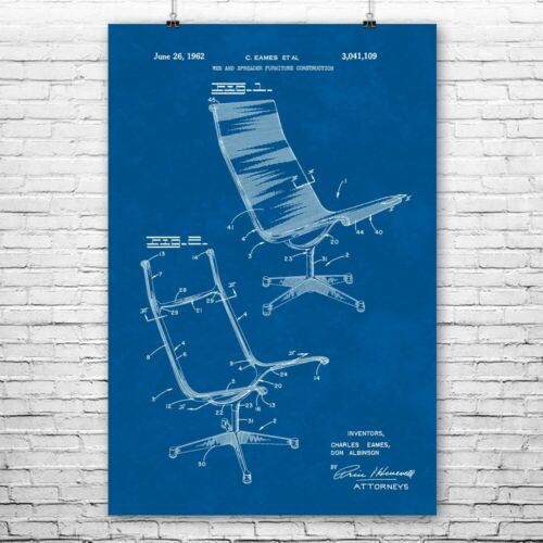 Aeron Chair Poster Print Boss Chair Businessman Gift Cubicle Art Office Decor