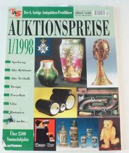 Auktionspreise 01/ 1998 Sammelobjekte Spielzeug Puppen Porzellan Technik B6344