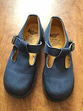 Vintage Dr. Martens Blue Suede T-Strap Mary Janes Oxfords Size UK 5/US 7