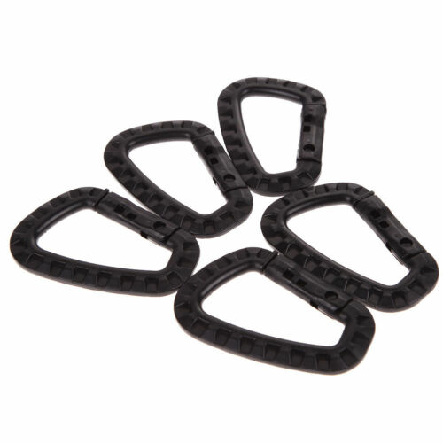 5pcs Outdoor Carabiner D-Ring Key Chain Clip Hook Camping Plastic Buckle ON P CI