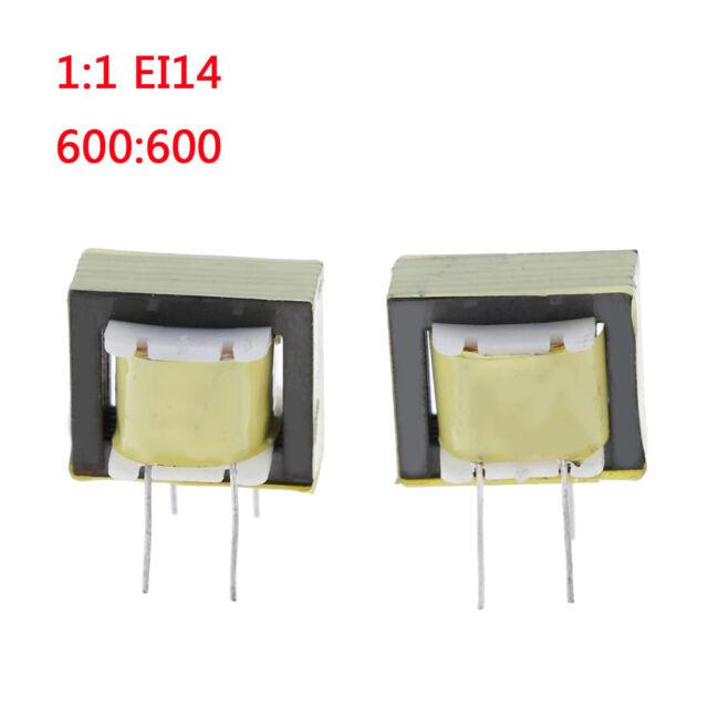 2 Pcs audio transformers 600:600 ohm europe 1:1 EI14 isolation transformer    N