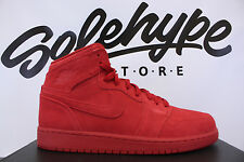 NIKE AIR JORDAN 1 RETRO HIGH GS SUEDE GYM RED OCTOBER 705300 603 SZ 7 Y