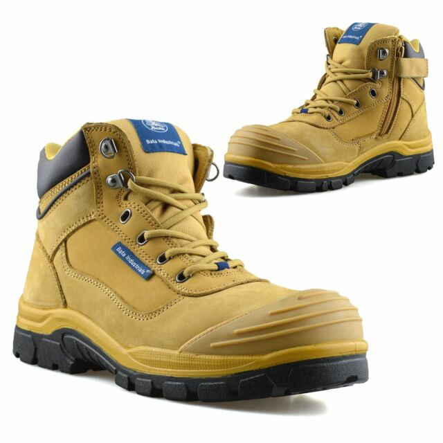 zip up steel toe cap boots cheap online