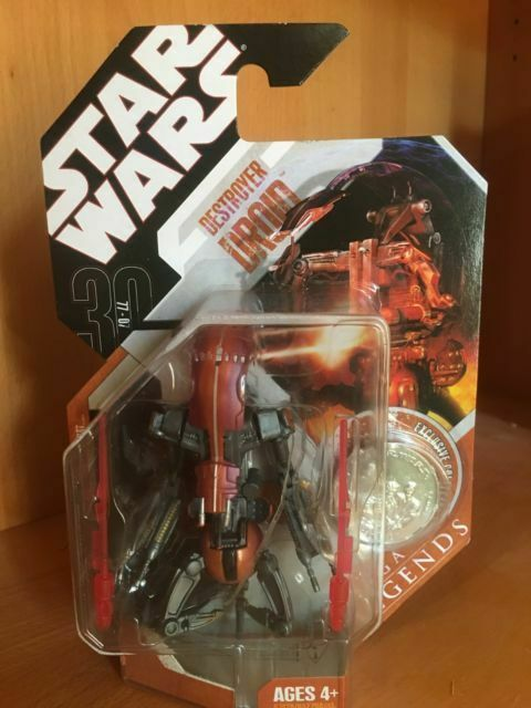 "DESTROYER DROID Star Wars 30th Anniversary Saga Legends w// Coin 3.75/"" Figure NEW"