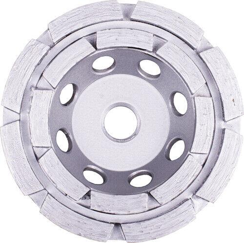 "5/"" Double Row Concrete Diamond Grinding Abrasive Cup Wheel 7//8/"" 5//8/"" Arbor"