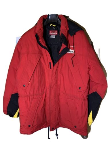 Marlboro Country Down Filled Hooded Red Jacket Men
