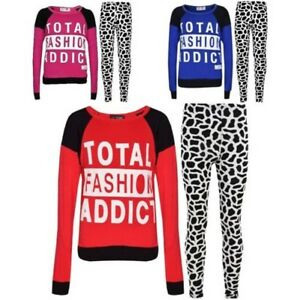 Mädchen Jahre Legging Printed Set Trendy 7 Fashion Addict Top 13 Total Kinder FxqWdP0wSS