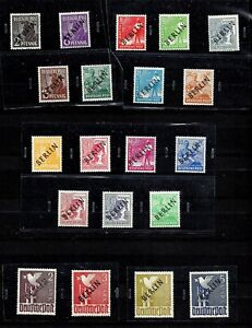 GERMANY-BERLIN-1948-BLACK-OVERPRINT-SET-SIGNED-SCHLEGEL-Mi-Nr-1-20