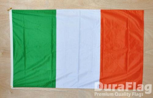 Duraflag High Quality Flag Ireland Small 3ftx2ft Banner Irish Rope /& Toggle