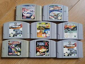 8 N64 NINTENDO Racing y coche Juegos, F Zero X, revuelta, F1 y mucho más