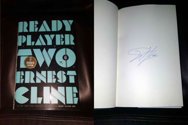Autographed Ready Player Two by Ernest Cline Hardcover PERFECT SIGNATURE!