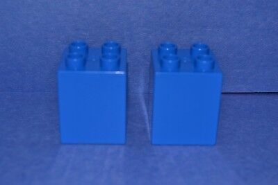 combined shipping 1X2 tall bricks lot of 3 blue Duplo blocks