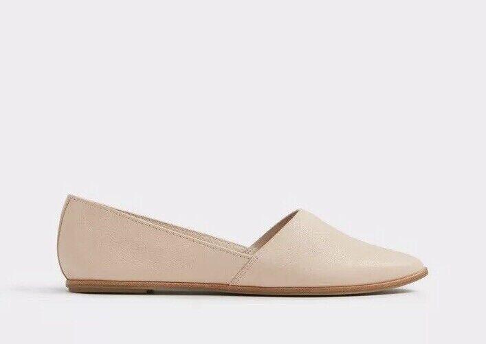SH1 Aldo damen Weißhette Flat Ballet schuhe Nude Größe UK 7