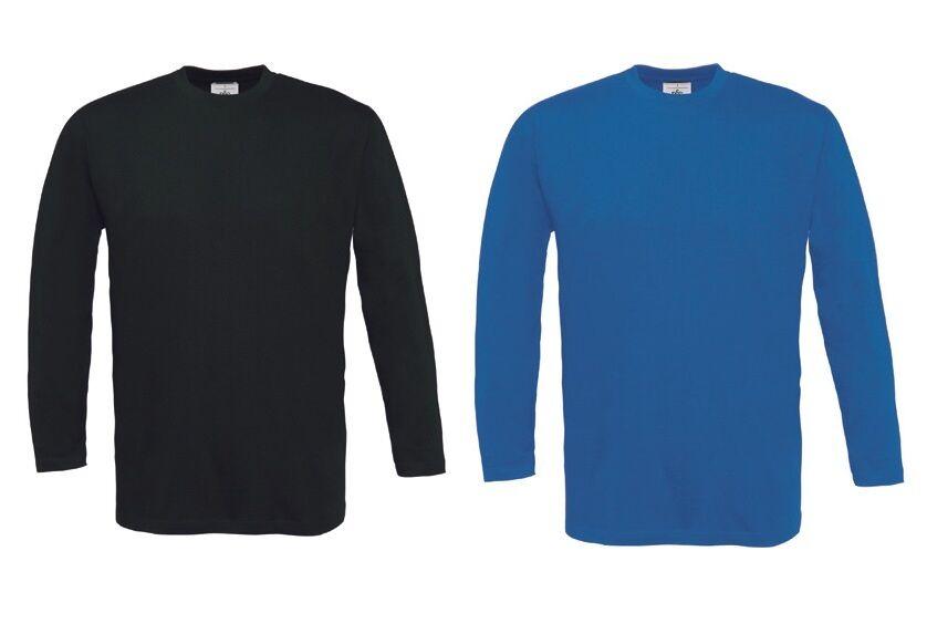 B B B & C bctu 003 T-shirt exact 150 Long Sleeve T Uomo Manica Lunga Top 10er Pack s-3xl b15595