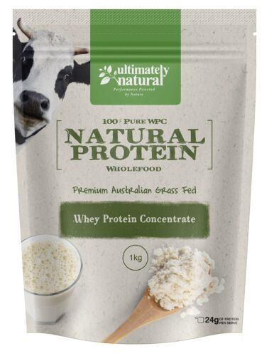 100% Pure Raw Grass Fed Whey Protein Concentrate Powder Australian Undenatured