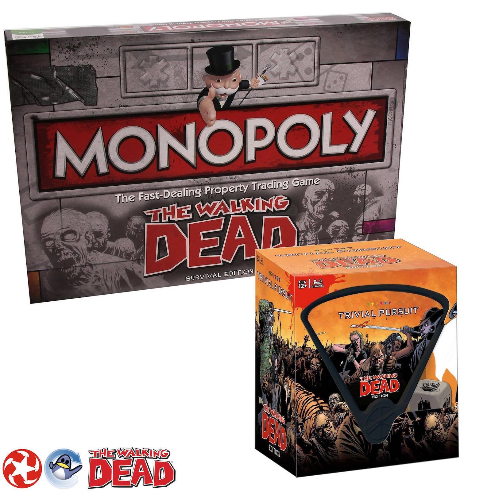 80% de descuento The Walking Dead Dead Dead Juego Regalo Paquete monopolio & Trivial Pursuit Paquete  calidad de primera clase