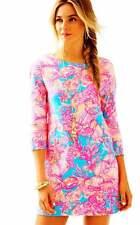 NWT Lilly Pulitzer LENA Dress in Sparkling Blue Fan-Tastic $158 Sz XS