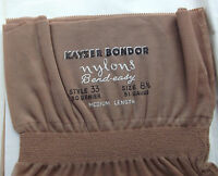 Vintage Fully Fashioned Stockings 8.5 1950s 30 Denier Kayser Seamed Bend-easy