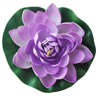 Practical Lovely Purple Floating Lotus Decoration for Aquarium Garden Pond M