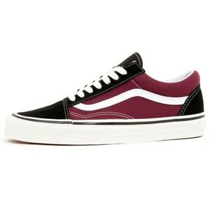 Details about SALE VANS OLD SKOOL 36 DX ANAHEIM FACTORY BLACK OG BURGUNDY NEW MENS