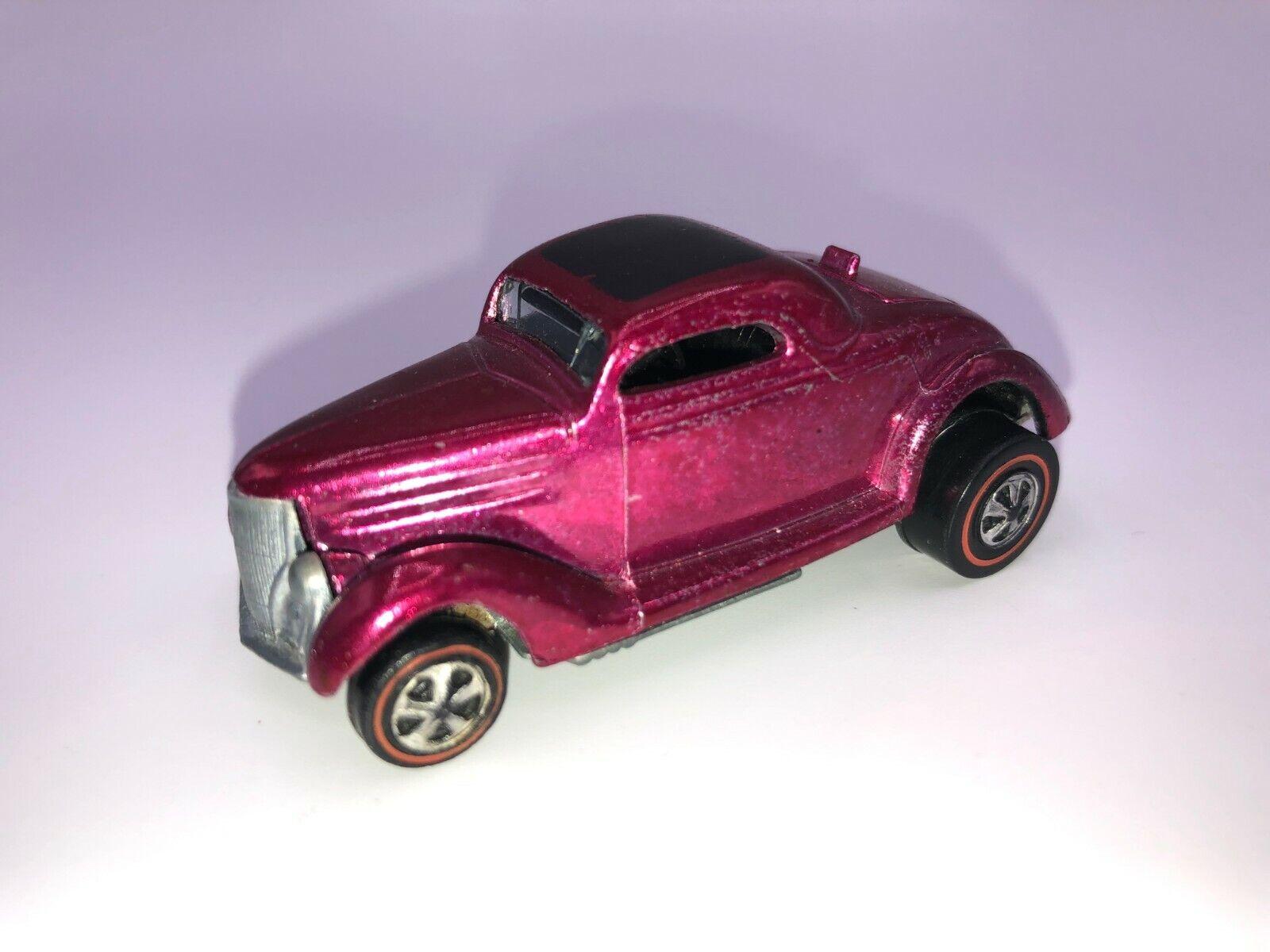 Netwerkline Hot WHakken Rose Classic'36 Ford Coupe In Uitstekende CondiBinden Alle Oorsprong