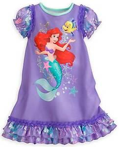 Image is loading Disney-Princess-Ariel-Little-Mermaid-Nightgown-Pajamas -Size- 234f8b2c8