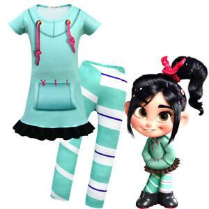 super cute b1721 94572 Details about Wreck-It Ralph 2 Vanellope von Schweetz Cosplay Costume  Children Kids Costume