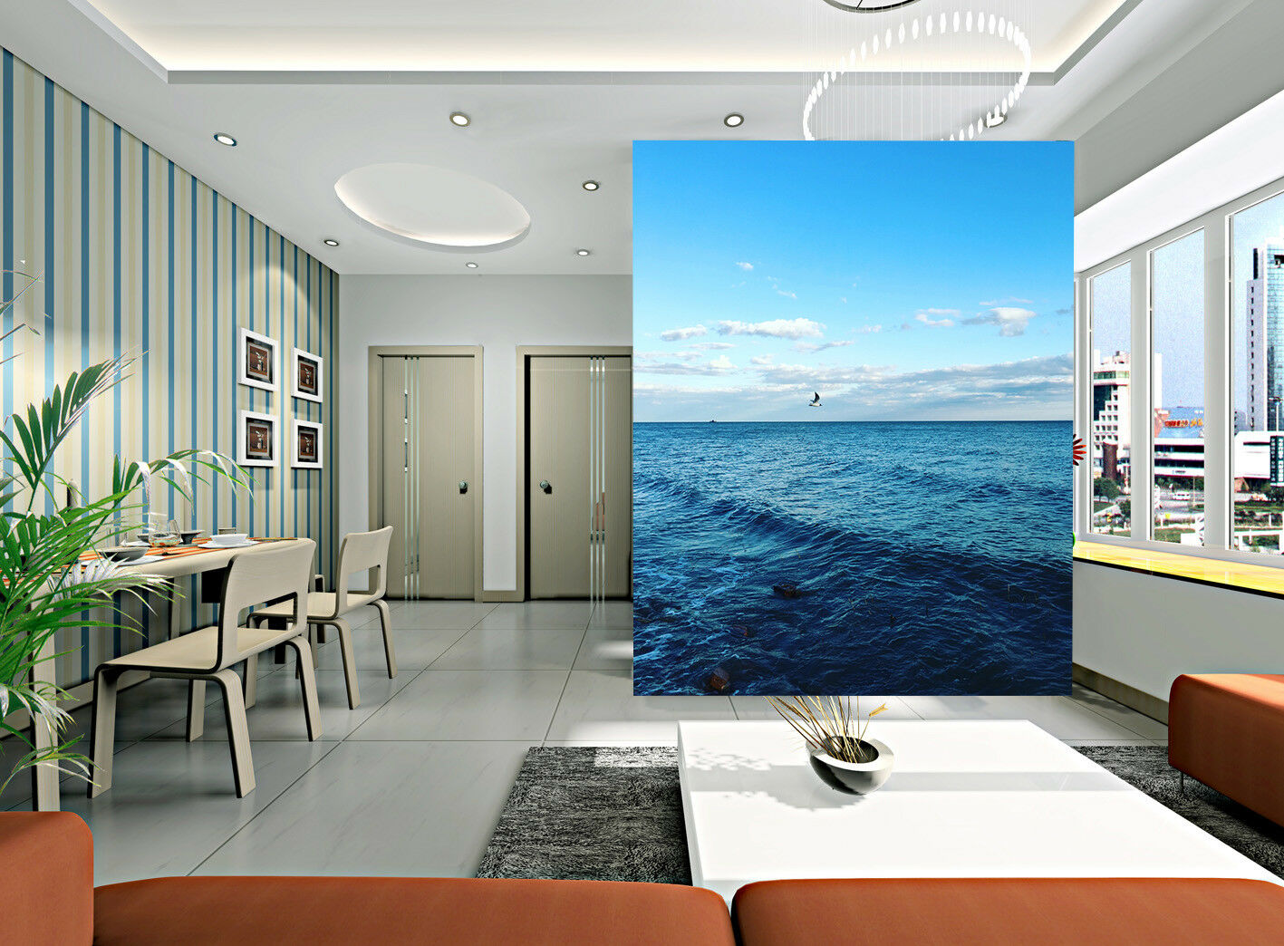 3D Gloomy Ocean Bird 8 Wall Paper Murals Wall Print Wall Wallpaper Mural AU Kyra