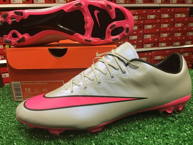sale retailer 2d21a 516bf Nike Mercurial Vapor X FG Soccer Cleats Grey / Pink Size 12 Brand New In Box