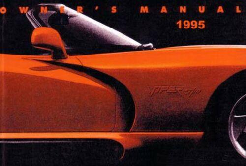 Bishko OEM Repair Maintenance Owner/'s Manual Bound for Dodge Viper 1995