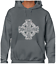CELTIC CROSS VINTAGE HOODY HOODIE VIKING NORSE DESIGN ODIN THOR GOTHIC QUALITY