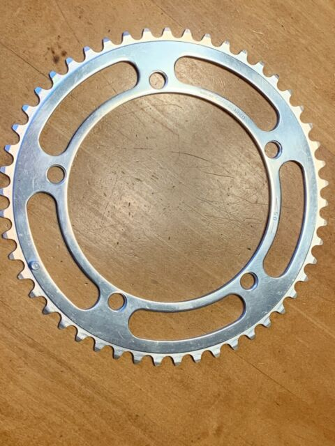 NOS CAMBIO RINO CHAINRING 52T BCD 144mm 80s DRILLED VINTAGE EROICA CAMPAGNOLO