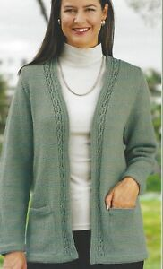 Ladies-Jacket-Knitting-Pattern-edge-to-edge-and-optional-pockets-DK-32-50-034-1108