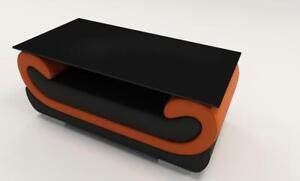 IndéPendant Magnifique Design Table En Verre Matelassée Salon Appoint Table Verre Cuir-afficher Le Titre D'origine