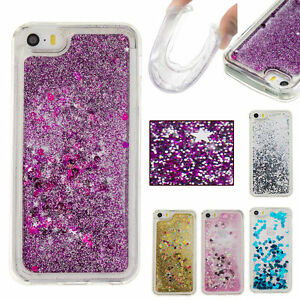 pretty nice 437ba 4bcf7 Details about Liquid Glitter Water Stars Bling Sparkly Case Cover For  Various Mobile Phones