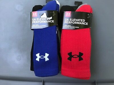 Under Armour UA Elevated Performance 3-Pack Crew SIZE MD FITS MENS SHOE SZ 4-8.5