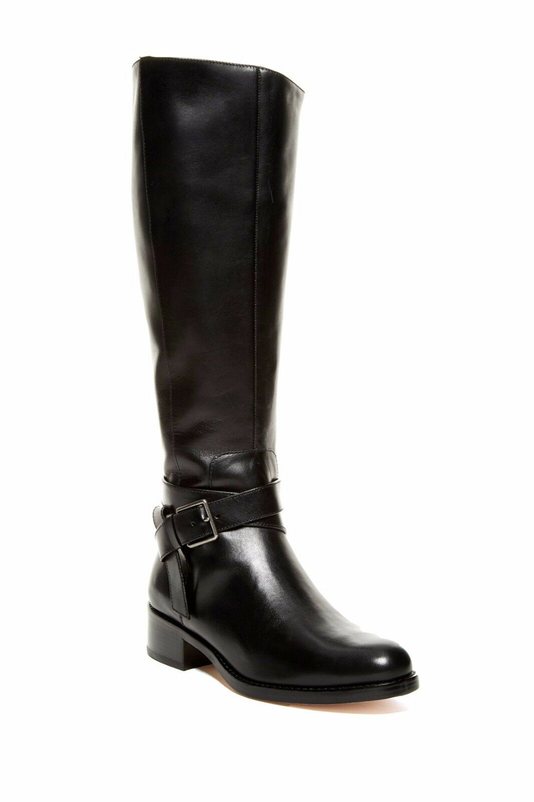 $400 NIB Cole Haan Briarcliff Boot, Black Leather, Extended Cuff, Size 6