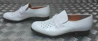 Genuine German Navy / Naval White Leather Sailor's Dress Shoe - Uk Size 9 - New