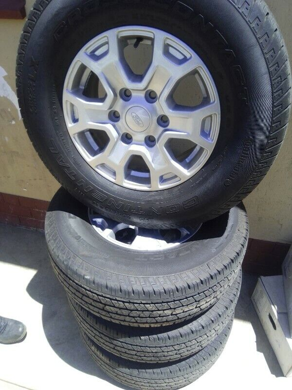 """16"""" Ford Ranger mags with good used 255/70/16 with 80% treads left set for R7500."""