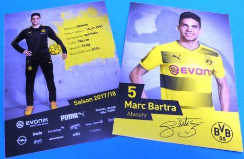Autogrammkarte 2017//2018 AK201851 + Marc Bartra Borussia Dortmund