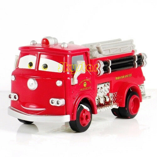 disney pixar cars 3 diecast 1 55 mini metal car chick hick lizzie rare kids toy fire engine red truck