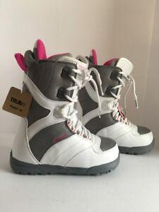 New Burton Coco Snowboard Boots White Pink Ladies 7 Ebay