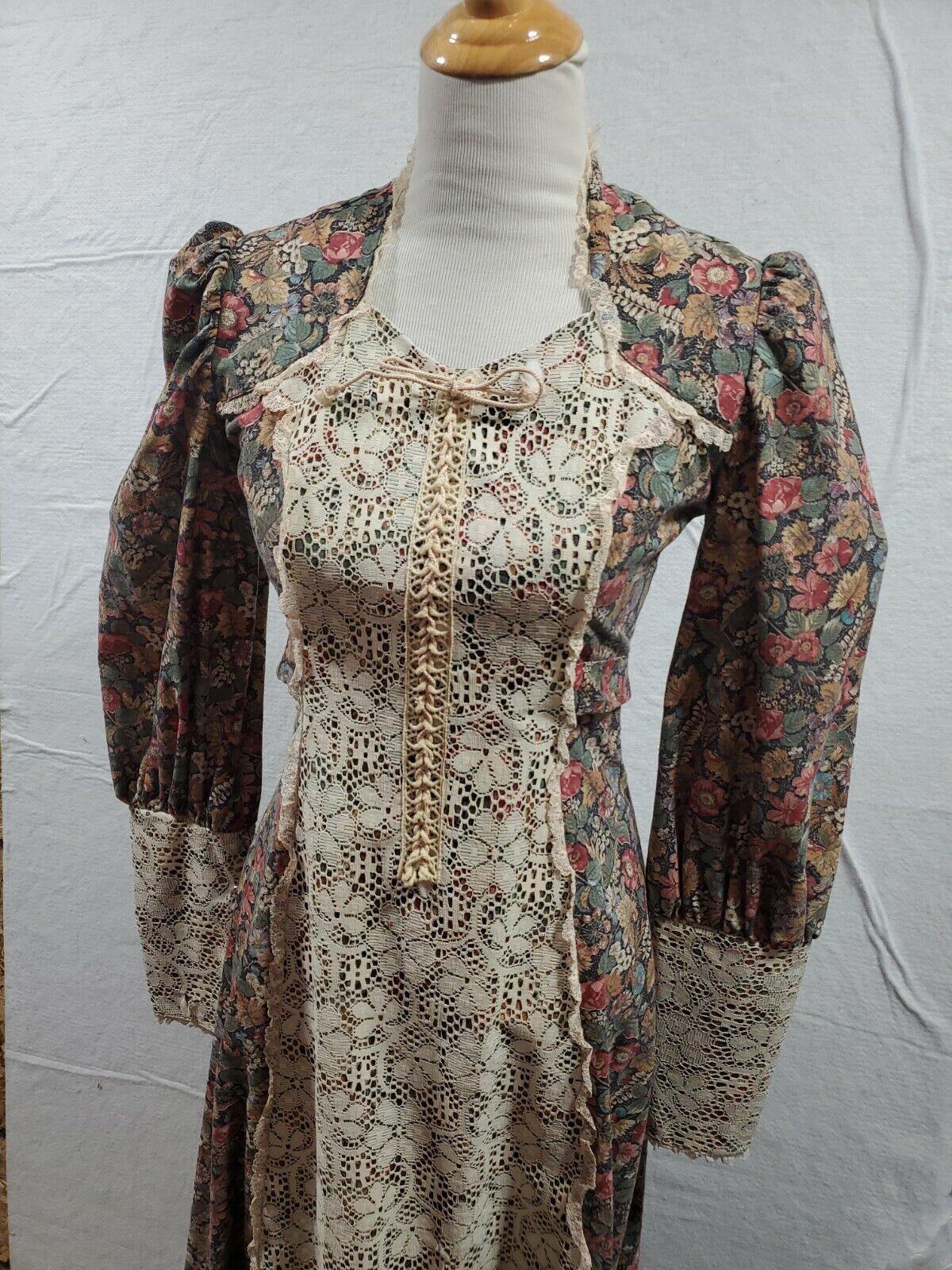 vintage gunne sax prairie dress Small womens tall… - image 3