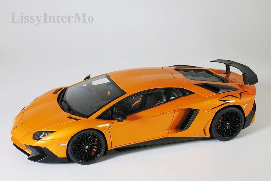 Lamborghine avendator lp750-4 SV 2015 Orange Autoart 1 18 Nouveau  Neuf dans sa boîte  le plus en vogue