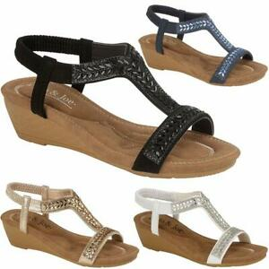 Ladies-New-Wedge-Sandals-Womens-Fancy-Party-Dress-Beach-Summer-Holiday-Shoes-3-8