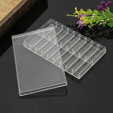 18 Grid Transparent Plastic Storage Case Box For Watch Pin Spring Bar Screw Bead