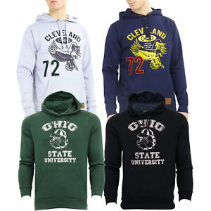 Mens-Sweatshirt-Brave-Soul-Over-The-Head-Hoodie-OHIO-Pullover-Top-CLEVELAND-New