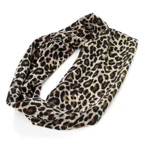 New Brown Animal Leopard Print Headband Stretch Elasticated Bandeaux Head Wrap