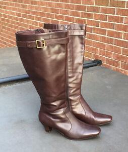 Eddie Bauer Brown Tall Boots Sz 7.5